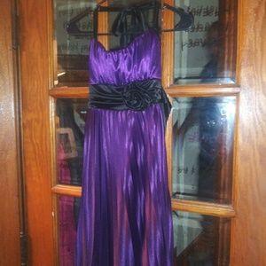 Speechless Dresses - Purple black semi formal dress medium